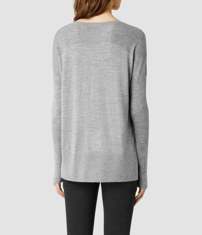 7009f28a6907 AllSaints Uma Sweater in Gray - Lyst