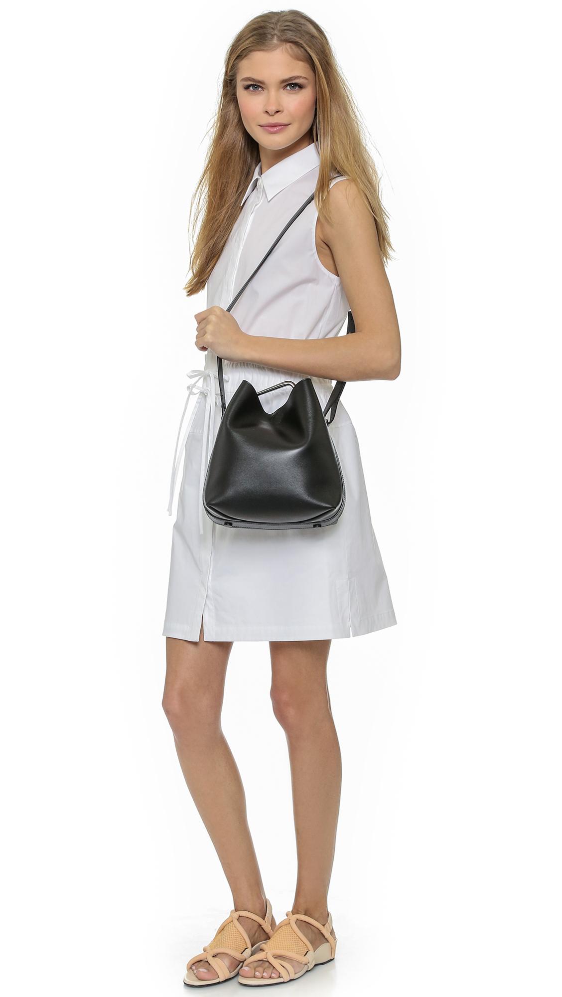 89b5ee861258 Lyst - 3.1 Phillip Lim Quill Mini Bucket Bag - Black in Black
