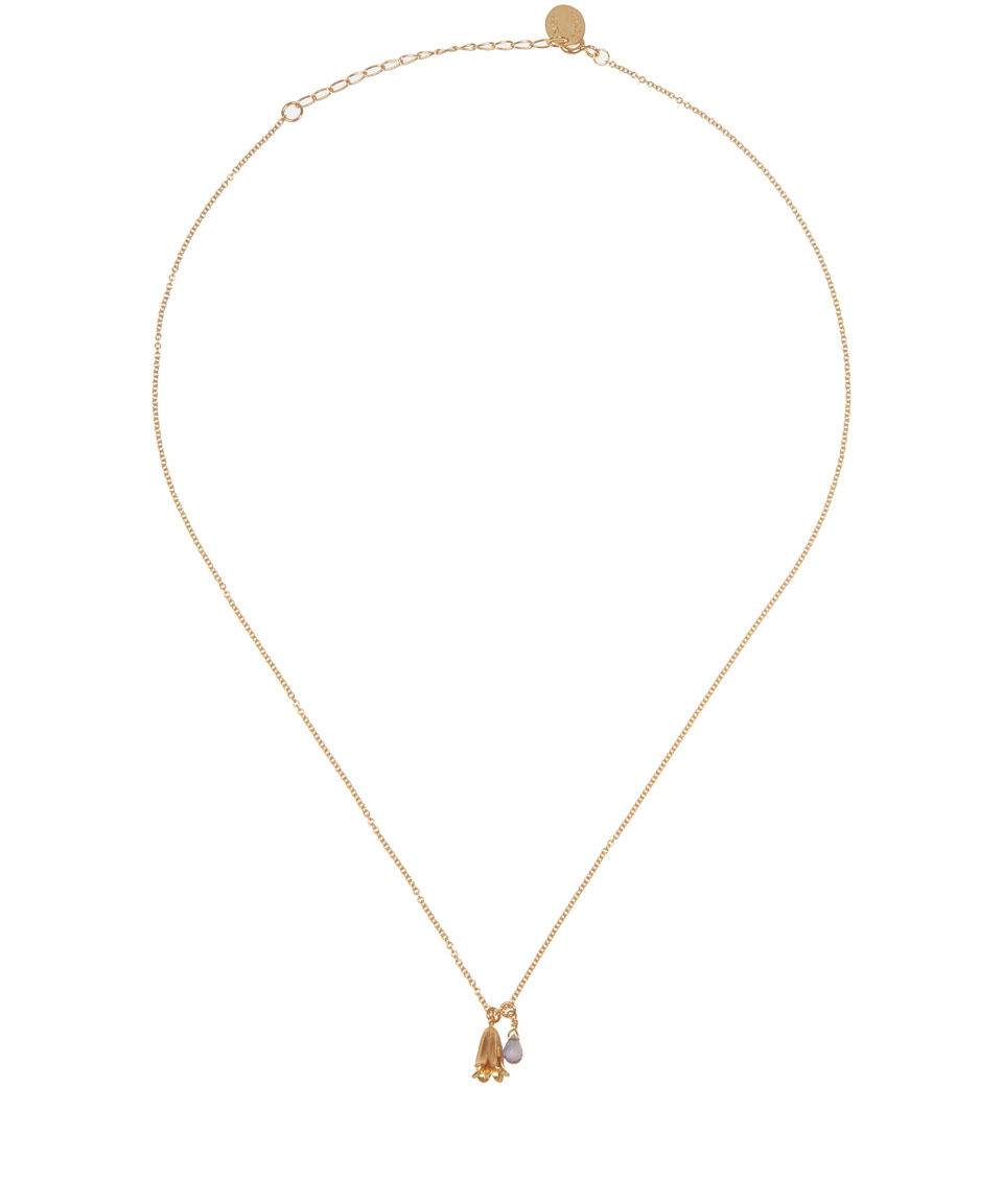 alex goldplated bluebell charm necklace in metallic