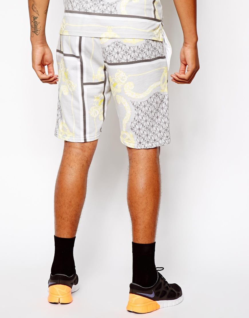 79ecf093895 Lyst - Christopher Shannon Kidda Sweat Shorts in Baroque Print in ...