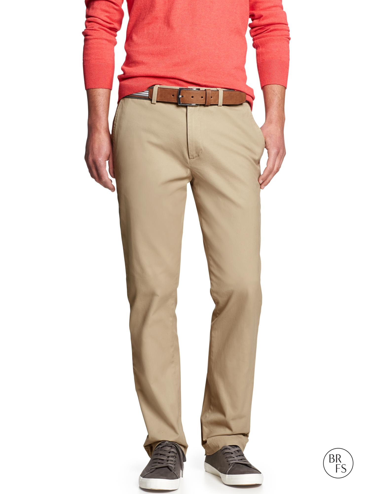 Banana Republic Factory Aiden Fit Chino In Beige For Men