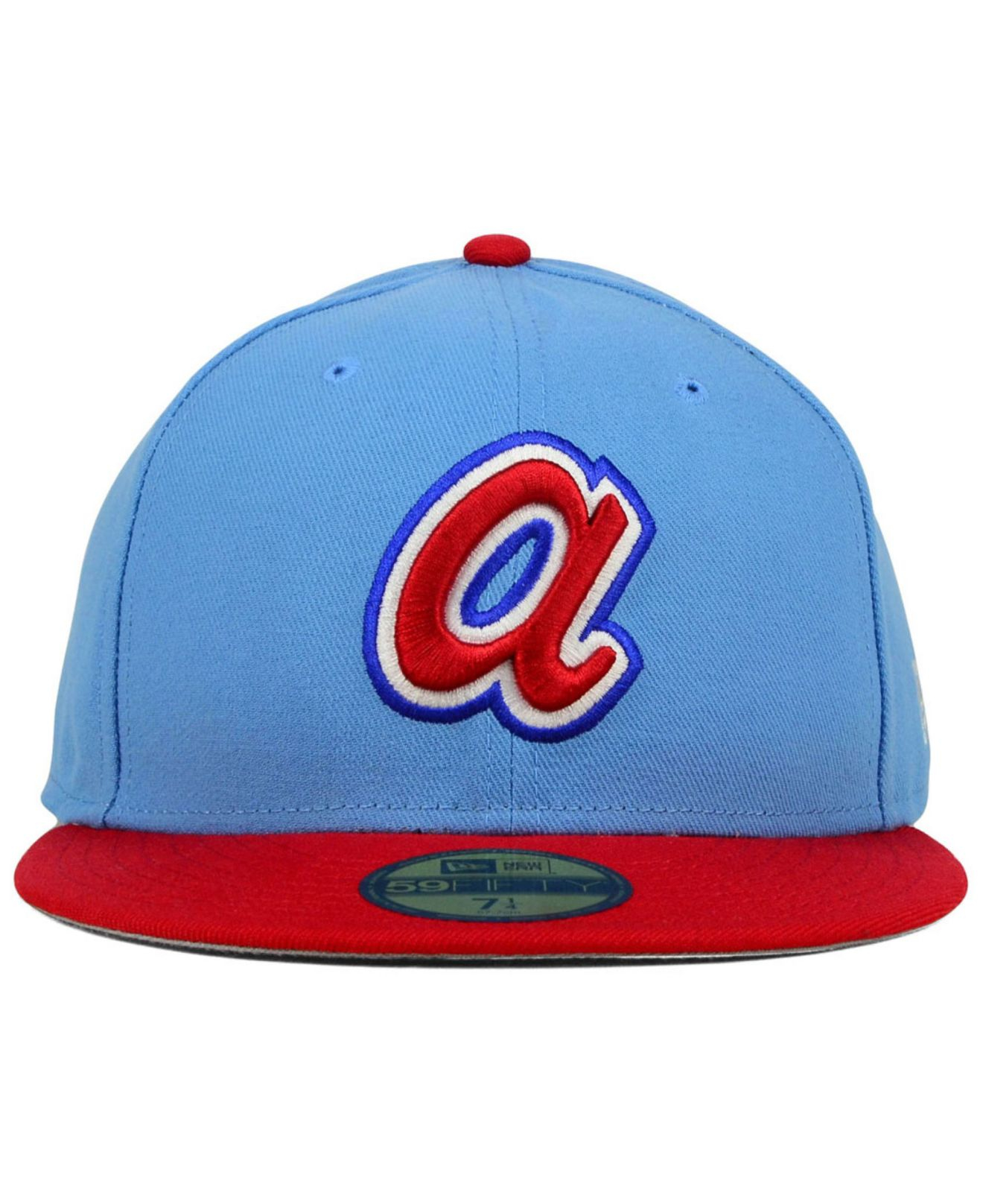 e5c5ac2225c store fitted cap lyst ktz atlanta braves cooperstown 2 tone 59fifty cap in  blue for men