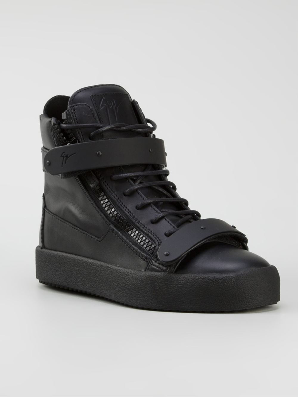 Lyst Giuseppe Zanotti Birel High Top Sneaker In Black