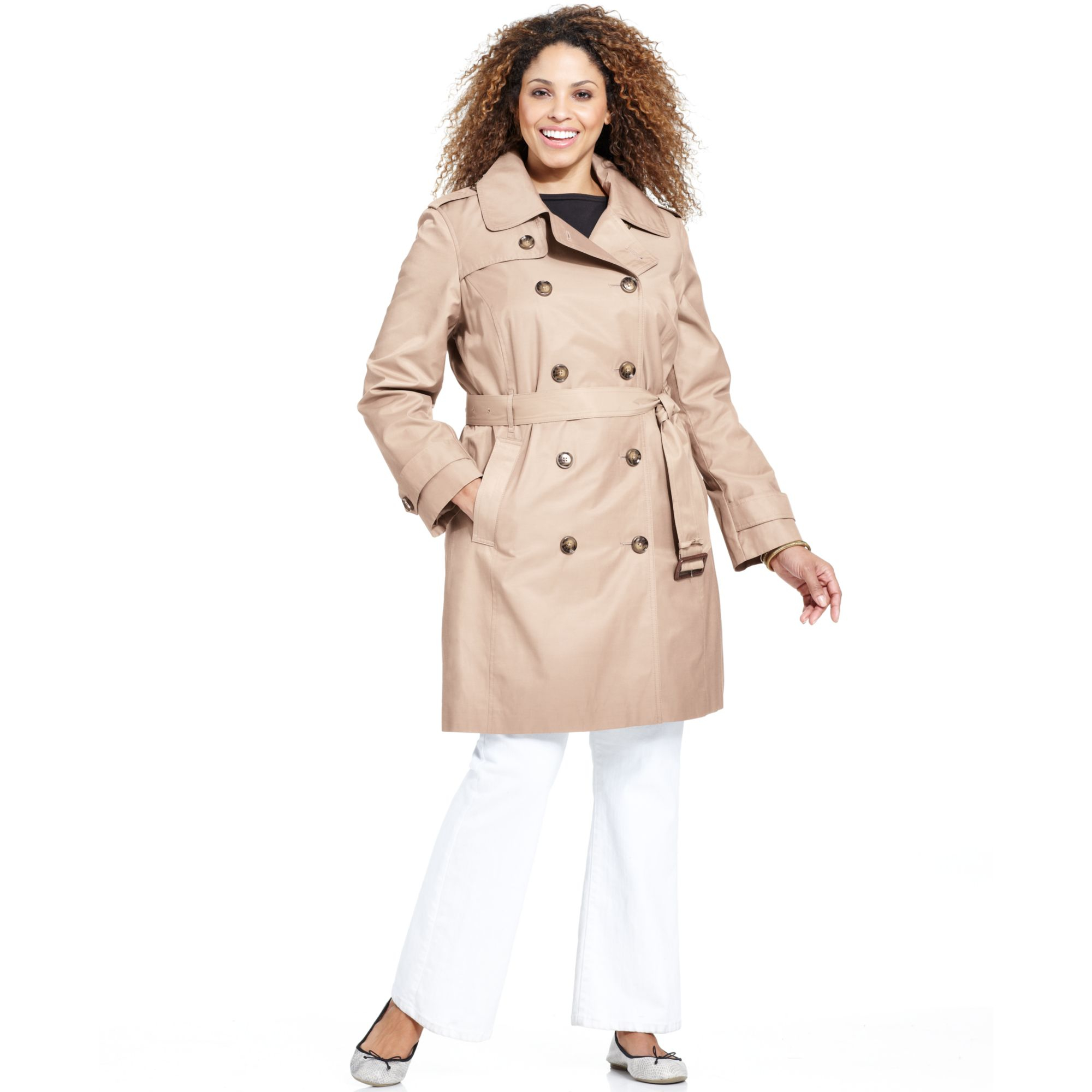 Plus size womens trench coat