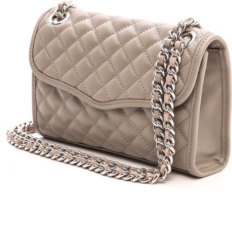 Rebecca Minkoff Quilted Mini Affair Bag Soft Grey In Gray