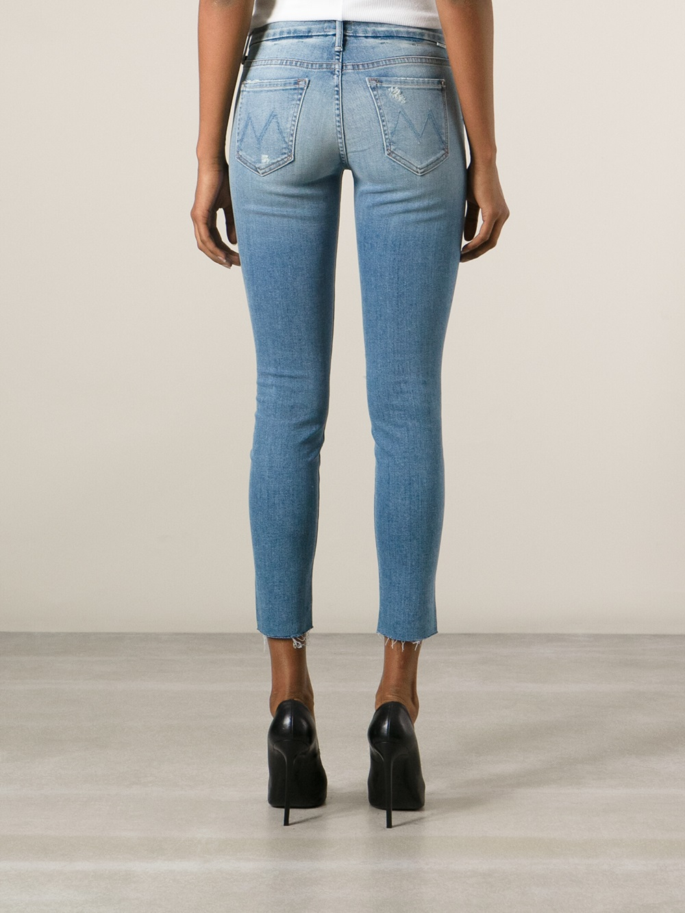 cropped skinny jeans - Blue Mother 3awsx