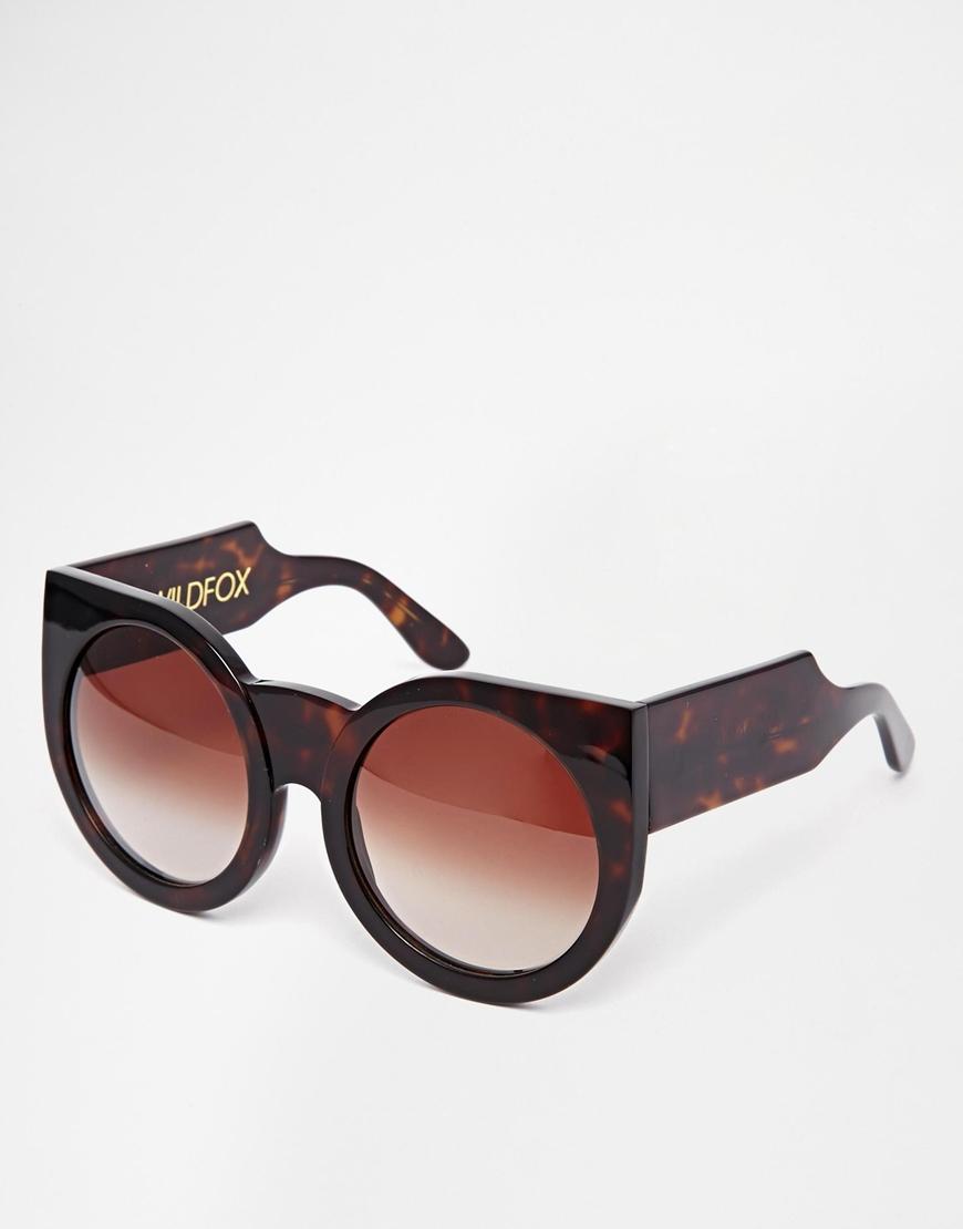 42f3b46a00563 Lyst - Wildfox Granny Oversized Cat-Eye Sunglasses in Brown