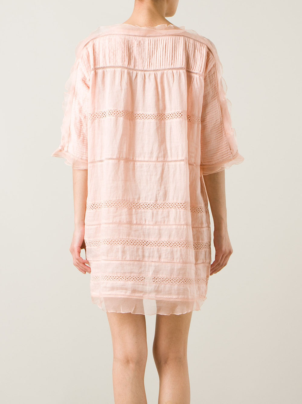 739409c460c Isabel Marant Loose Fit Dress in Pink - Lyst