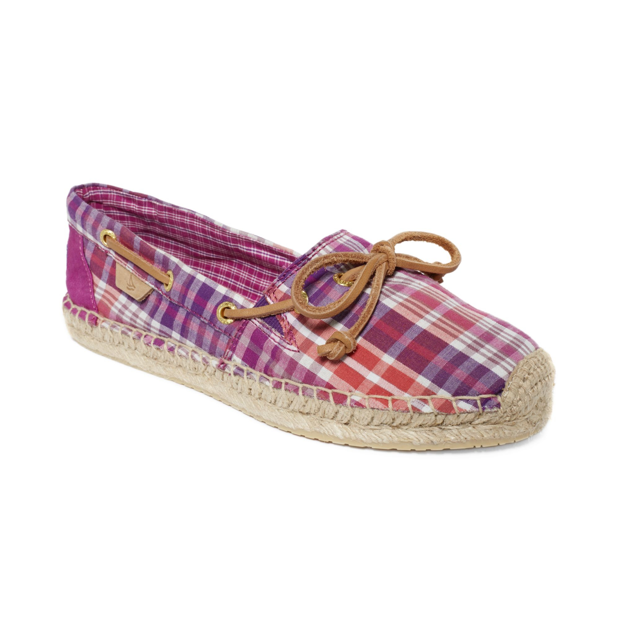 Sperry Top-sider Womens Shoes Katama Espadrille Flats in Purple (Blue