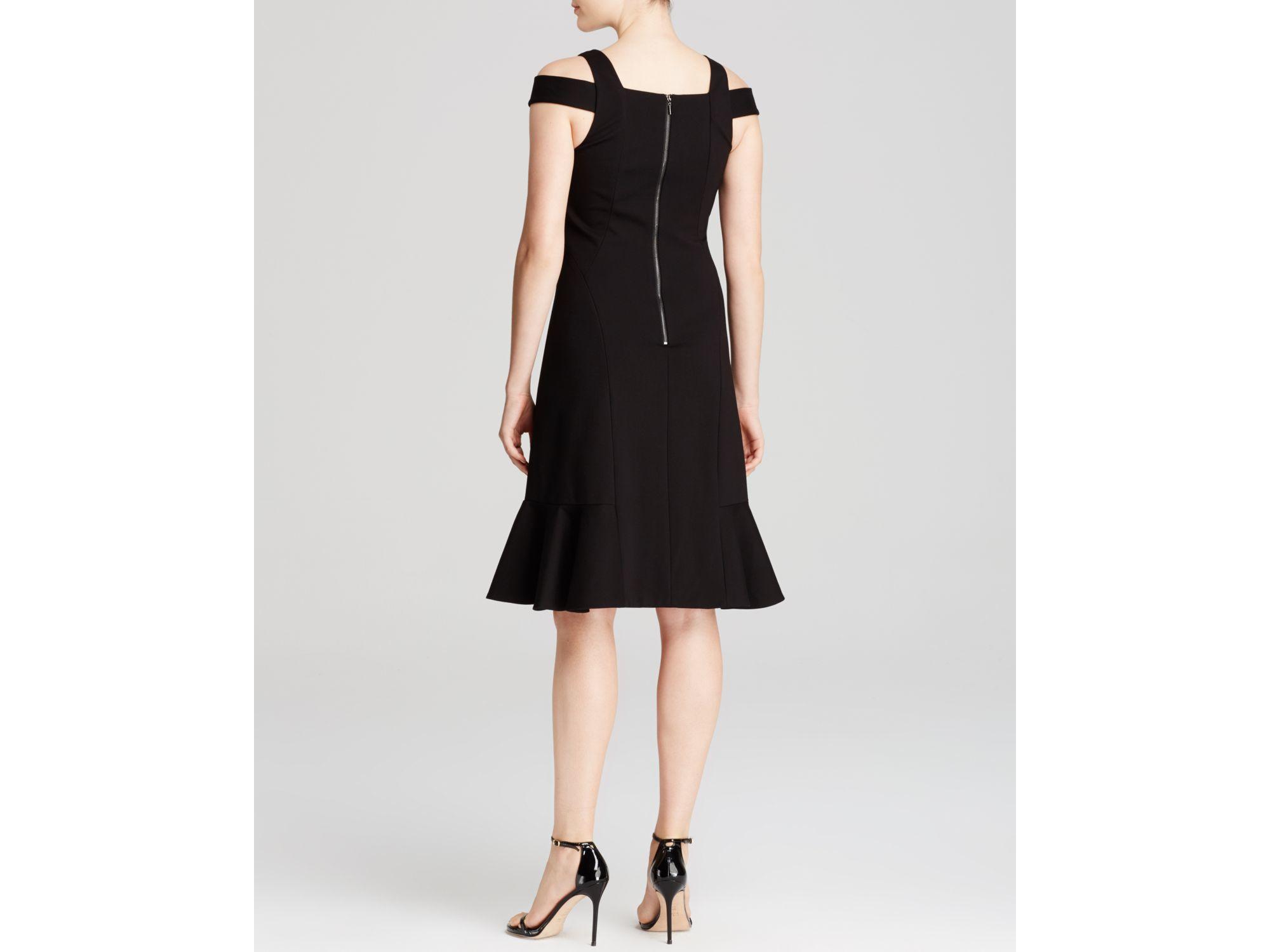 Rebecca taylor Cold Shoulder Dress in Black