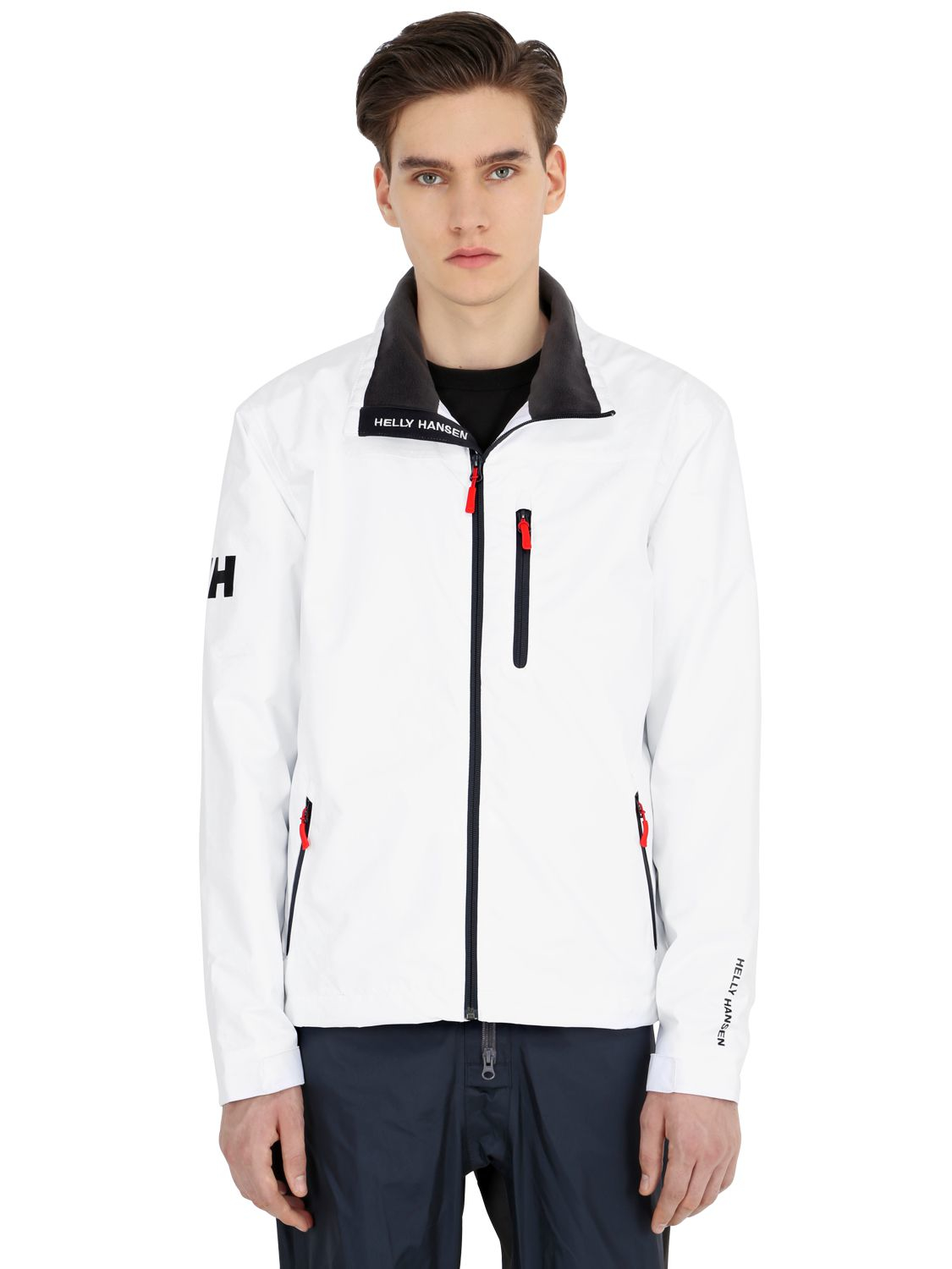 lyst helly hansen crew midlayer jacket in white for men. Black Bedroom Furniture Sets. Home Design Ideas