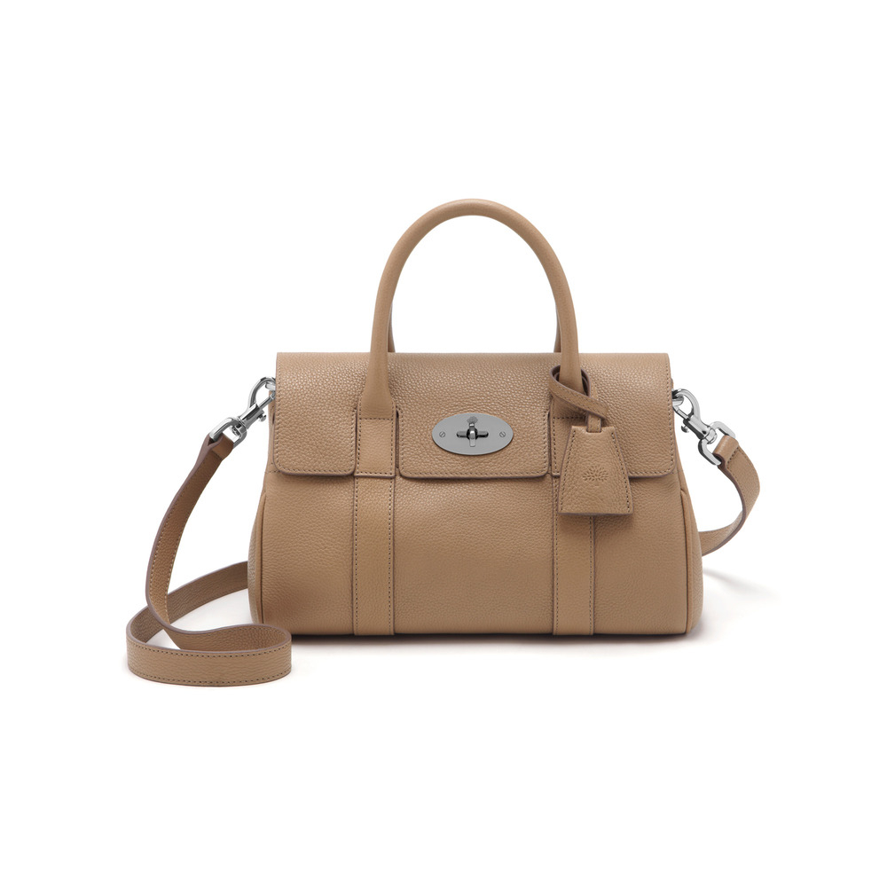 b43ee0440d Lyst - Mulberry Small Bayswater Satchel in Natural