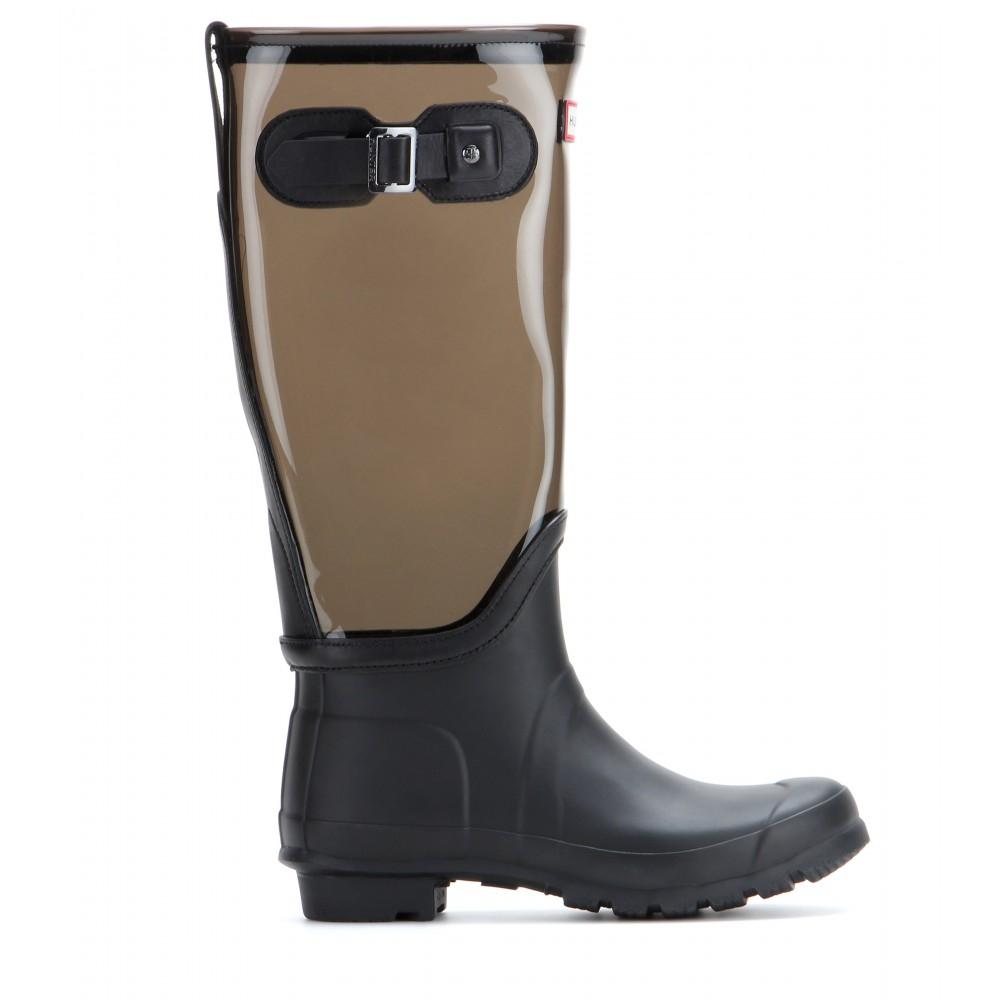 Lyst Hunter Original Clear Leg Wellington Boots In Gray