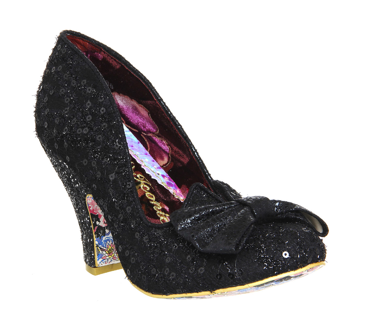 Irregular Choice Nick Of Time Heel In Black