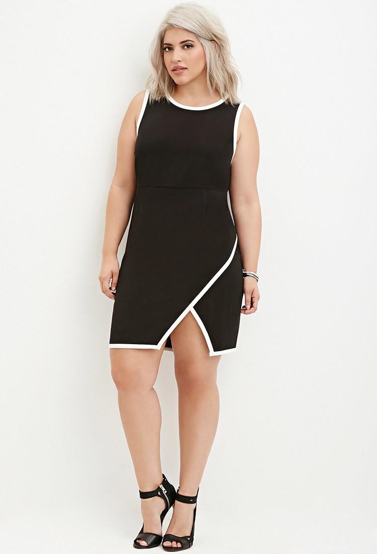 lyst  forever 21 plus size contrasttrimmed sheath dress