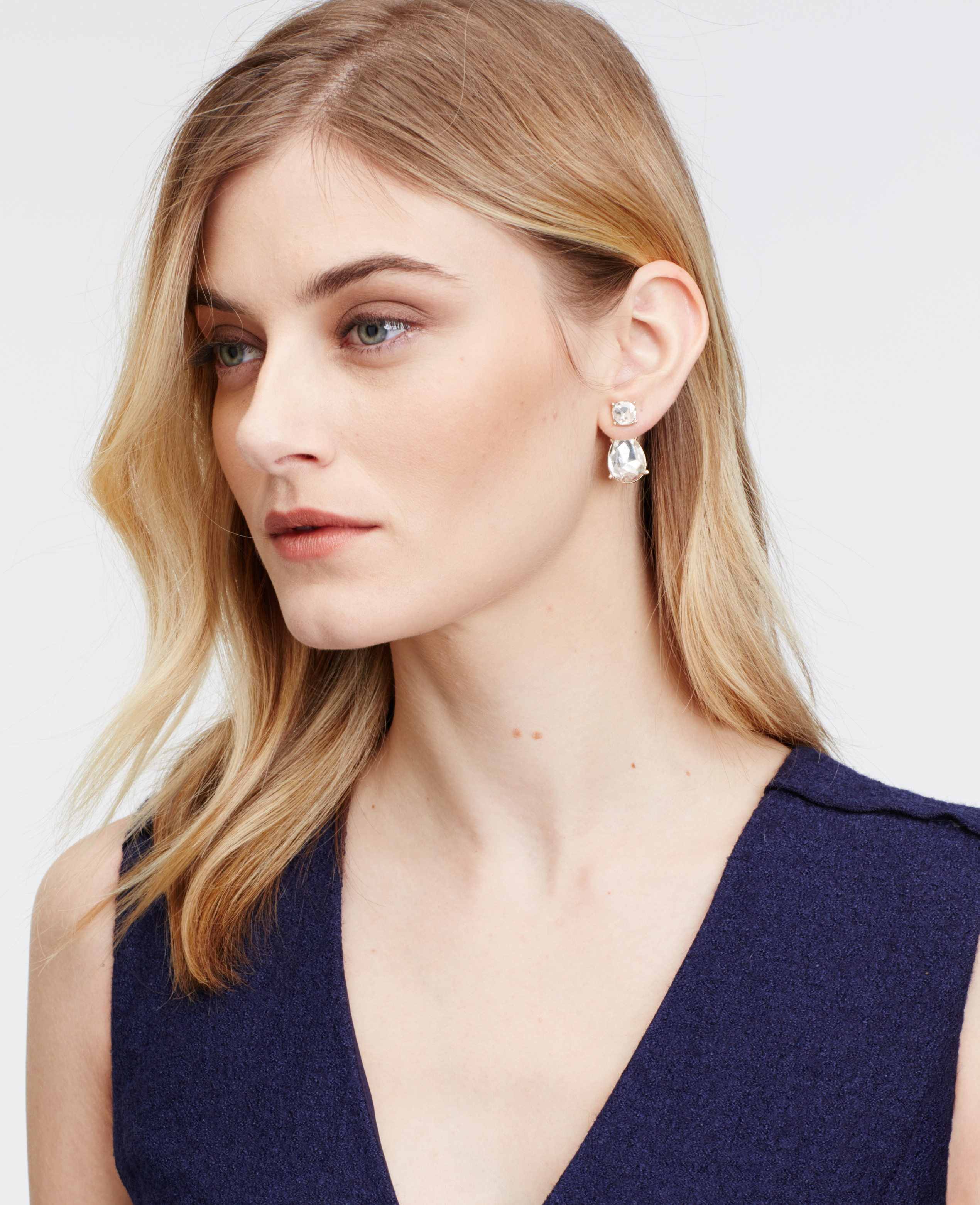 Ann Taylor - ann-taylor-gold-double-crystal-drop-earrings-product-0-216007300-normal