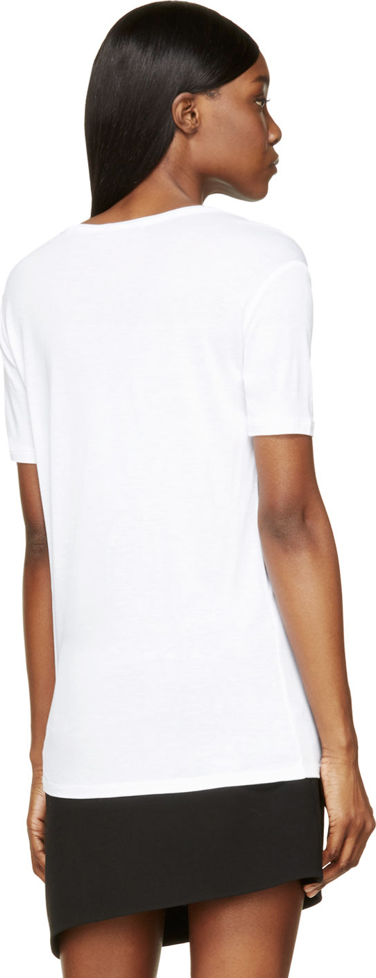 t by alexander wang white classic pocket t shirt in white lyst. Black Bedroom Furniture Sets. Home Design Ideas