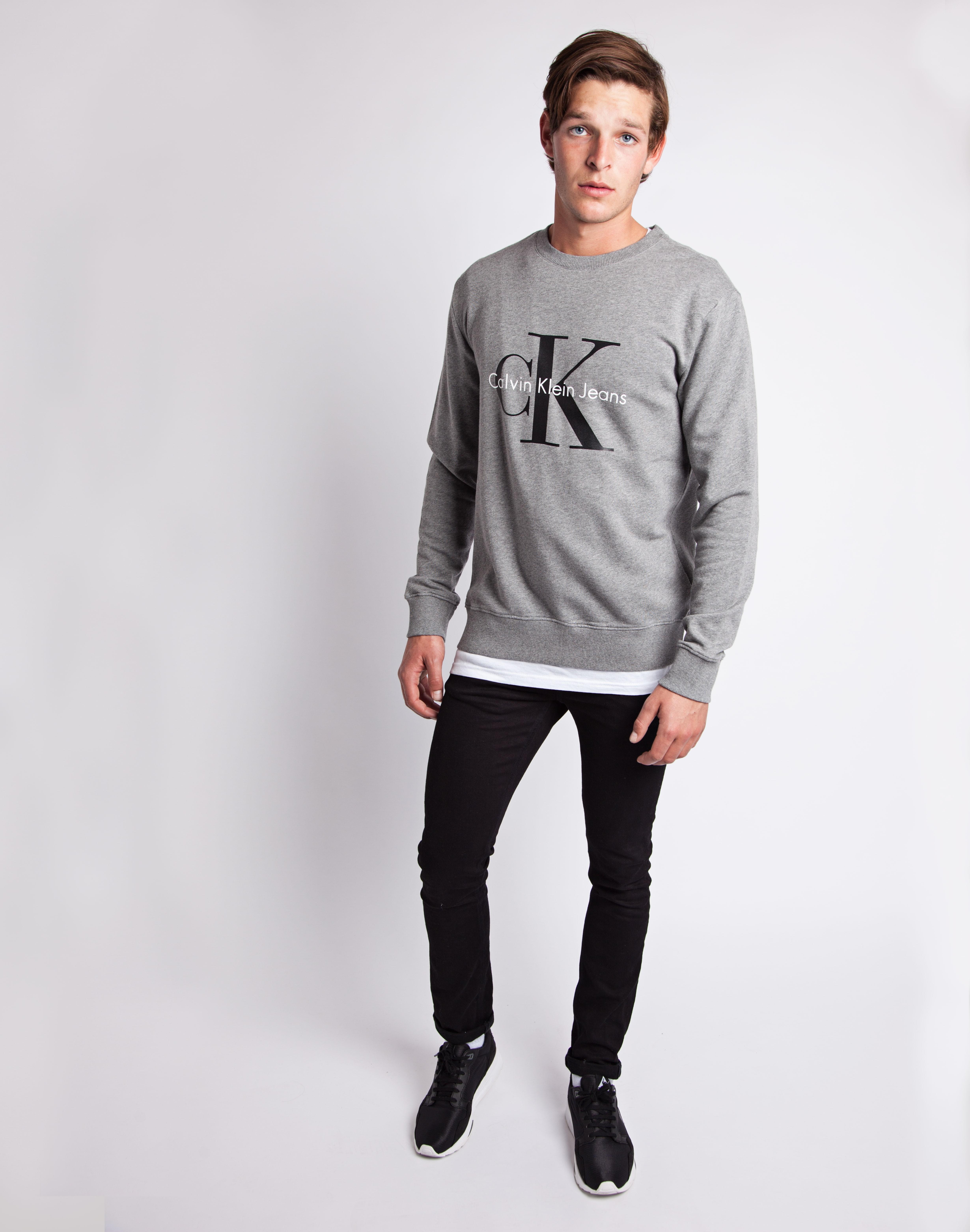 Lyst Calvin Klein Jeans Classic Sweatshirt Grey In Gray For Men