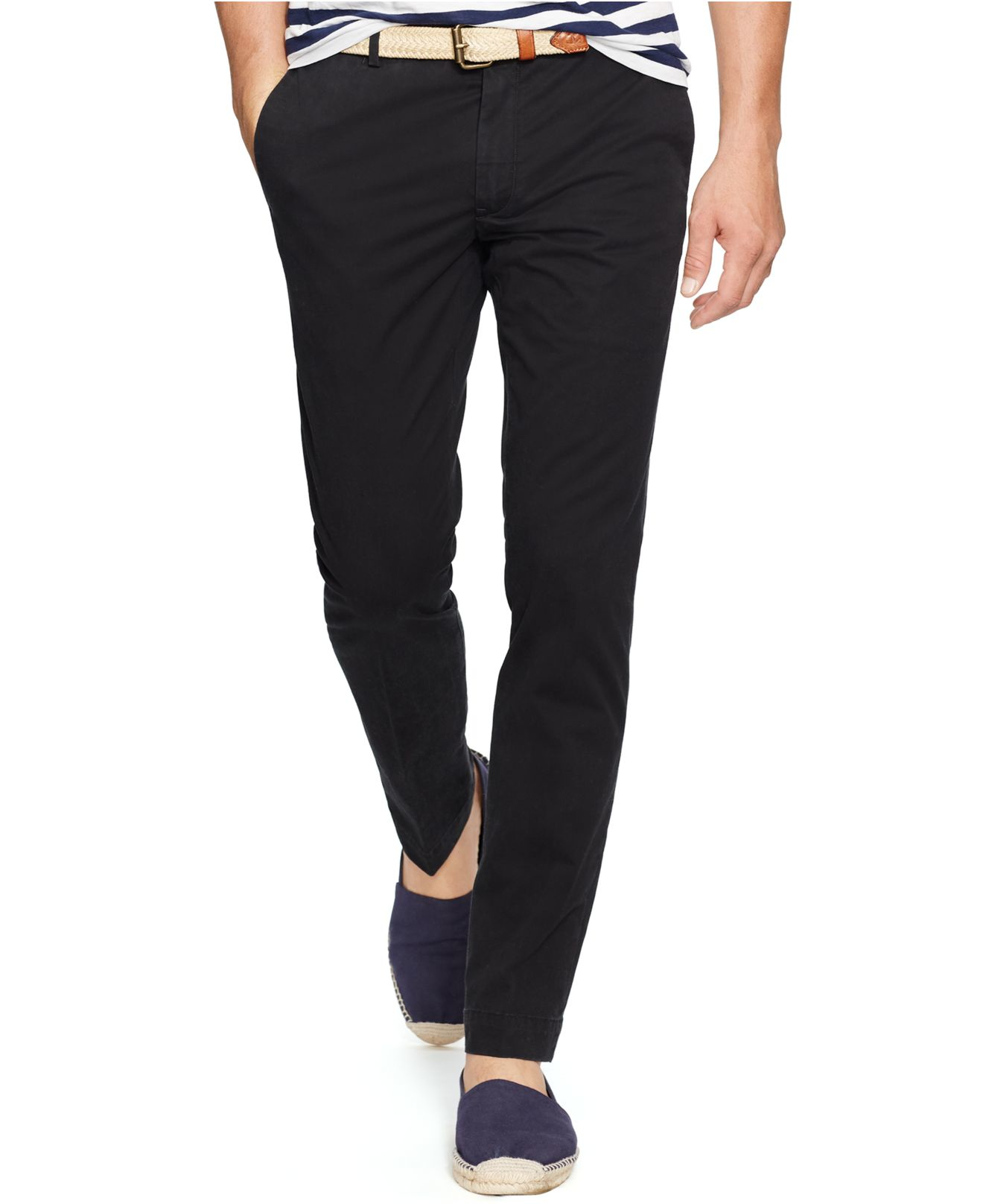 f8be8d0d2c263 Lyst - Polo Ralph Lauren Slim-fit Stretch-chino Pant in Black for Men