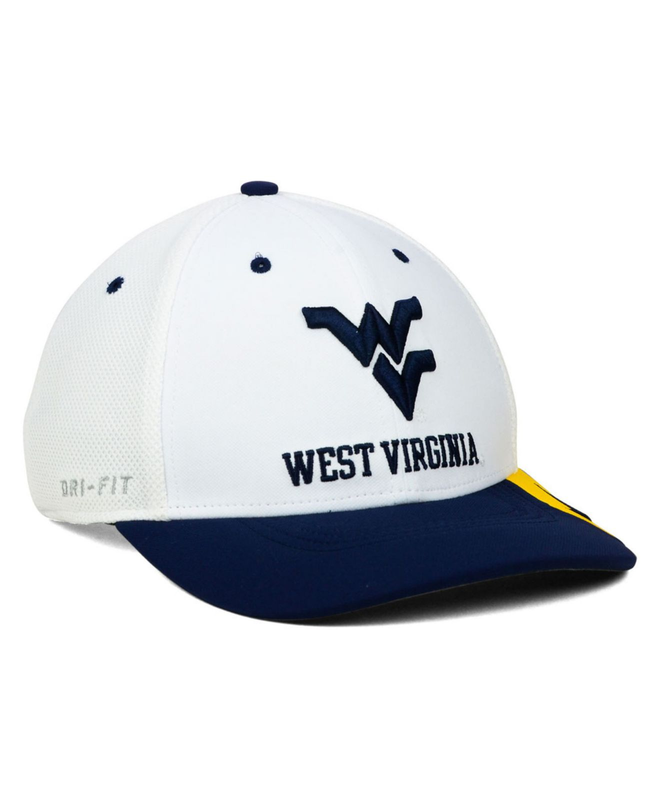 c239bc090f6 Lyst - Nike West Virginia Mountaineers Conference Swf Cap in White ...