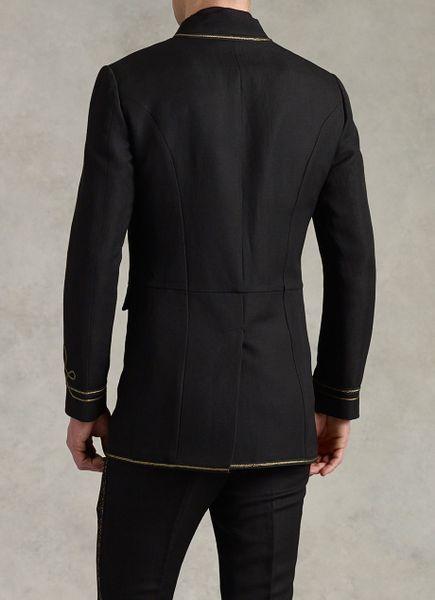 John Varvatos Hendrix Hook And Bar Coat In Black For Men