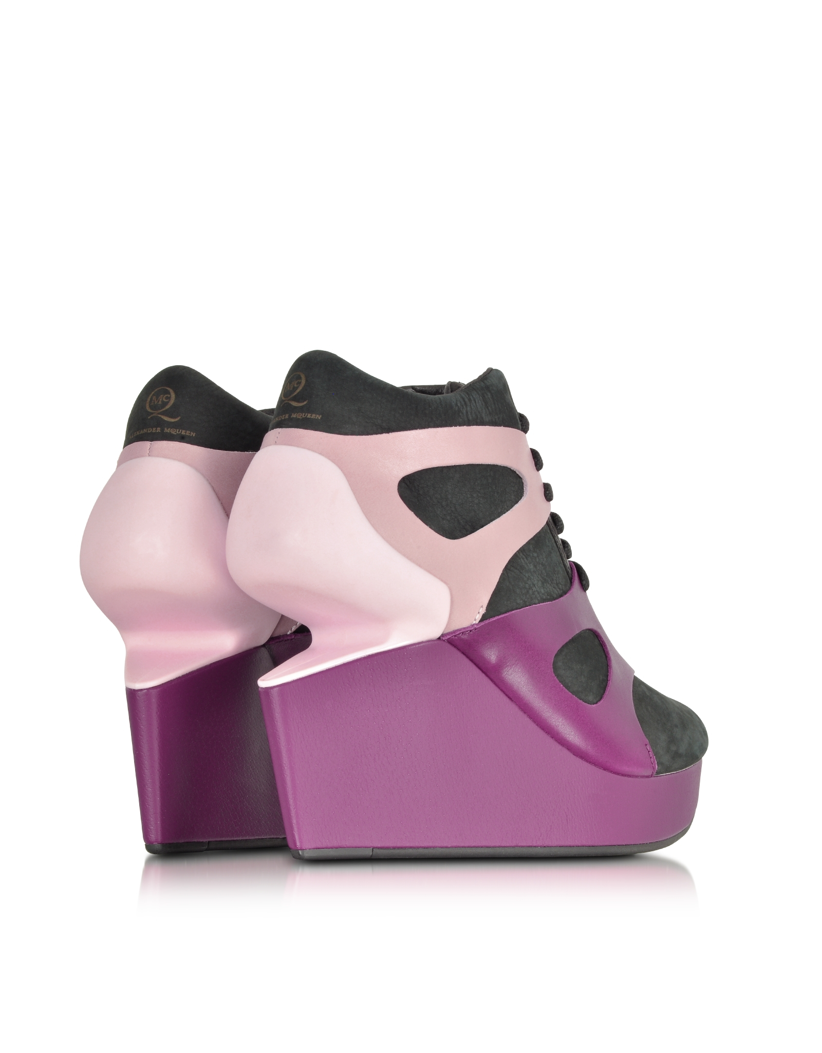 Lyst - Alexander Mcqueen X Puma Black and Purple Potion Leap Wedge Sneaker  in Purple