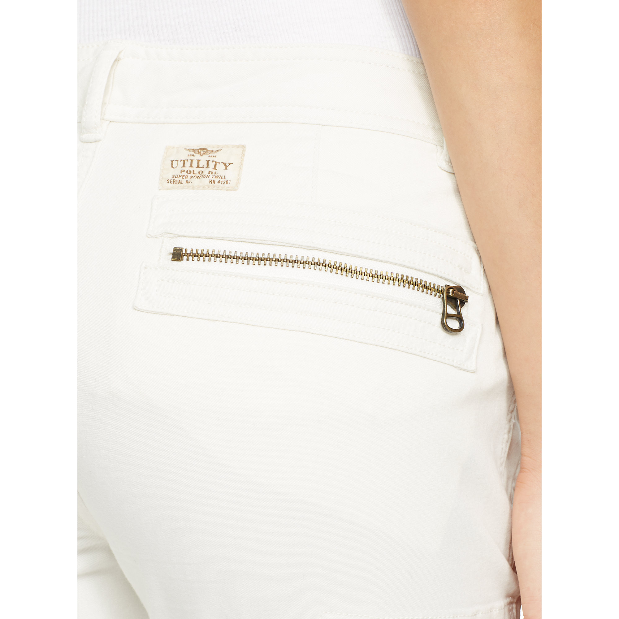 2563ff03 Polo Ralph Lauren Stretch Skinny Cargo Pant in White - Lyst