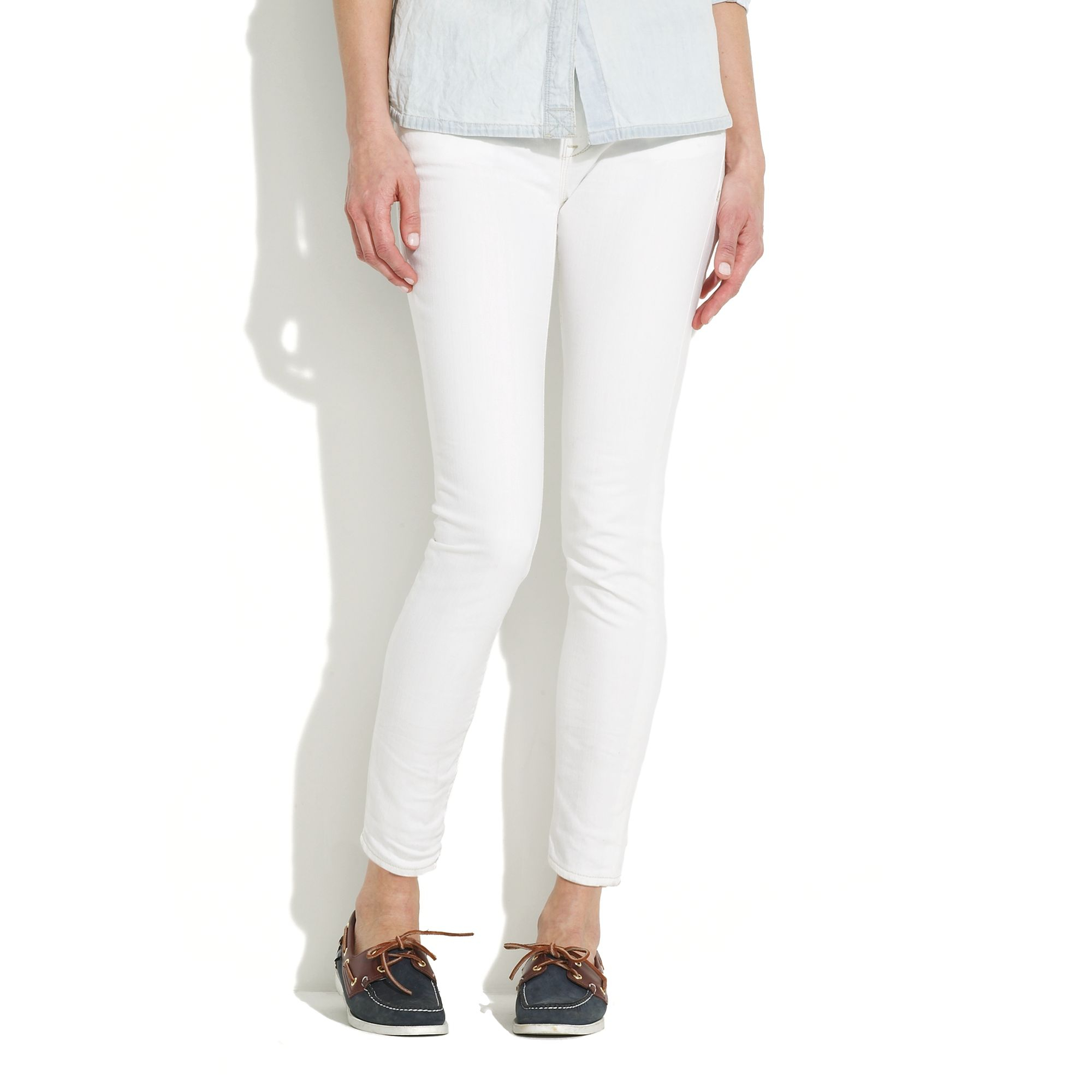 b12418ecccd Madewell Skinny Ankle Jeans In White Wash in White - Lyst