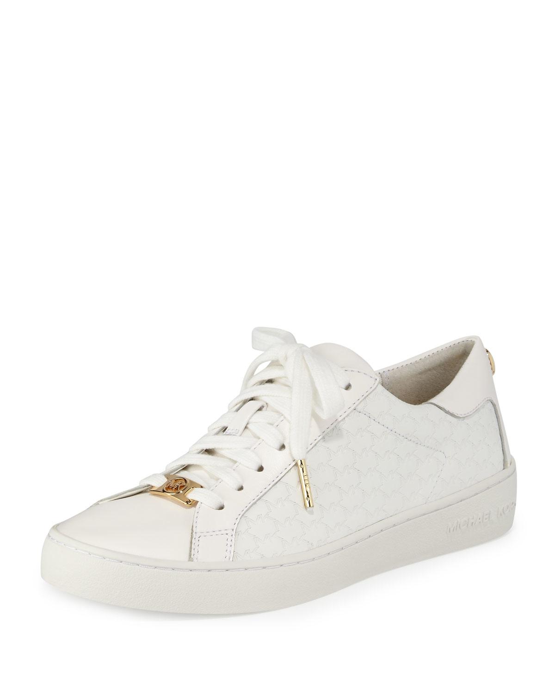 e2fadf25597f Lyst - MICHAEL Michael Kors Colby Logo-embossed Sneaker in White