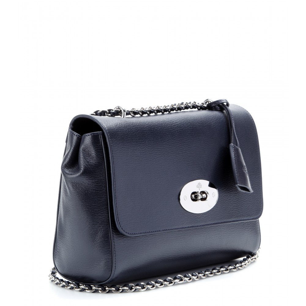 e79bb02ecbee Mulberry Medium Lily Grainy Leather Shoulder Bag in Blue - Lyst