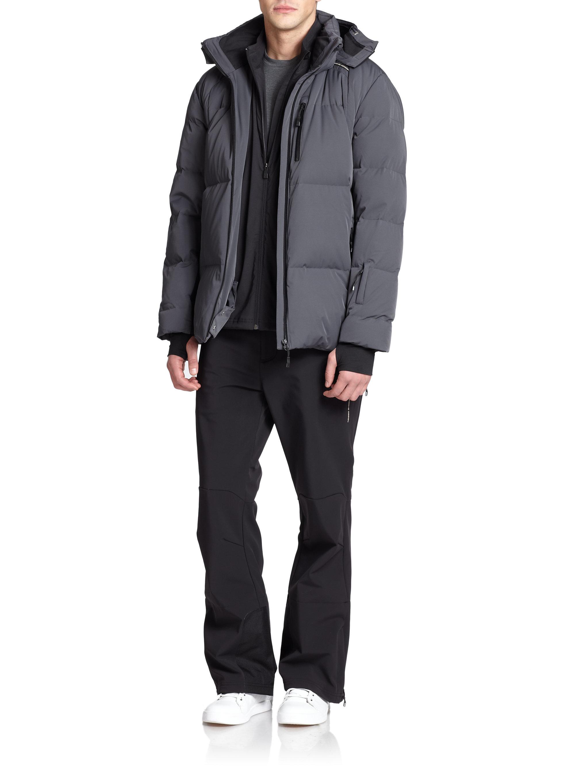 on sale 35d87 69f68 Lyst - Porsche Design Down Ski Jacket in Gray for Men