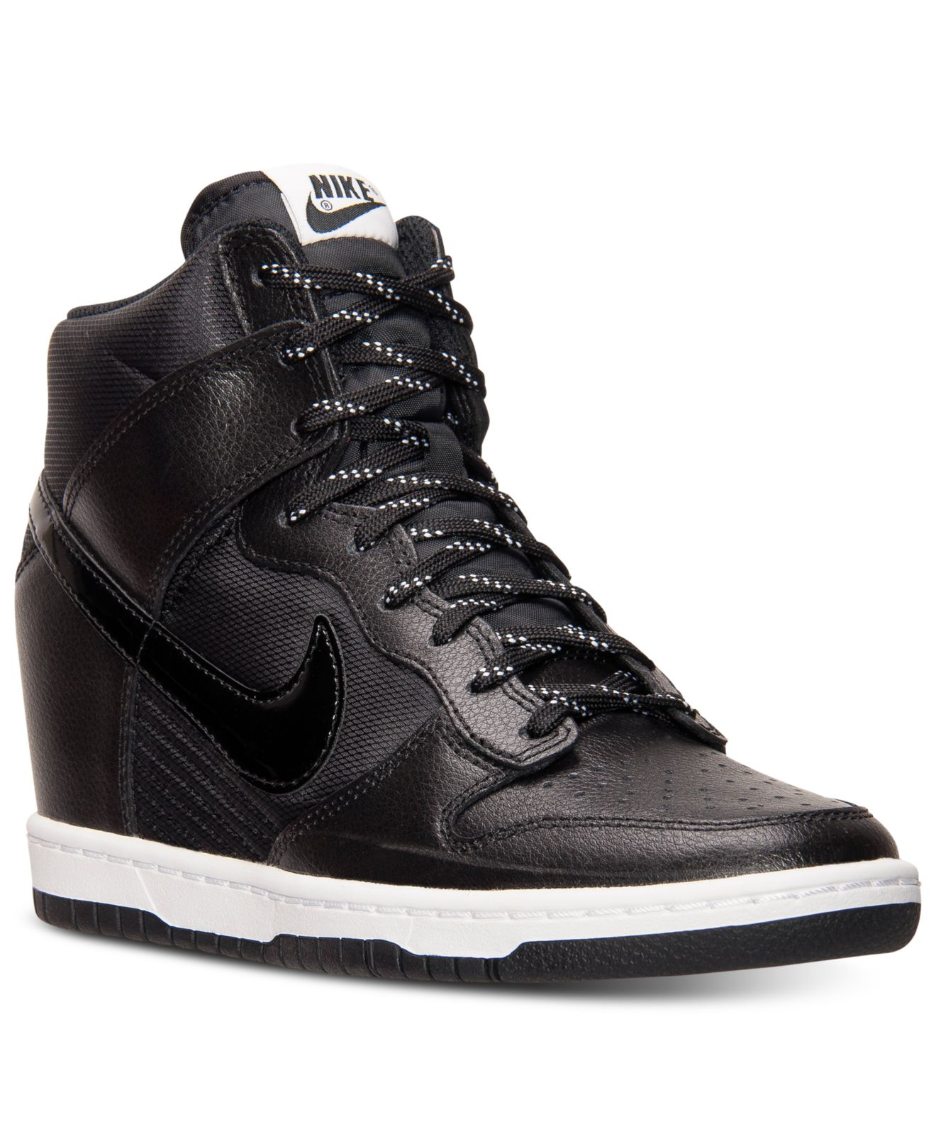 nike women 39 s dunk sky hi essential sneakers from finish line in black lyst. Black Bedroom Furniture Sets. Home Design Ideas