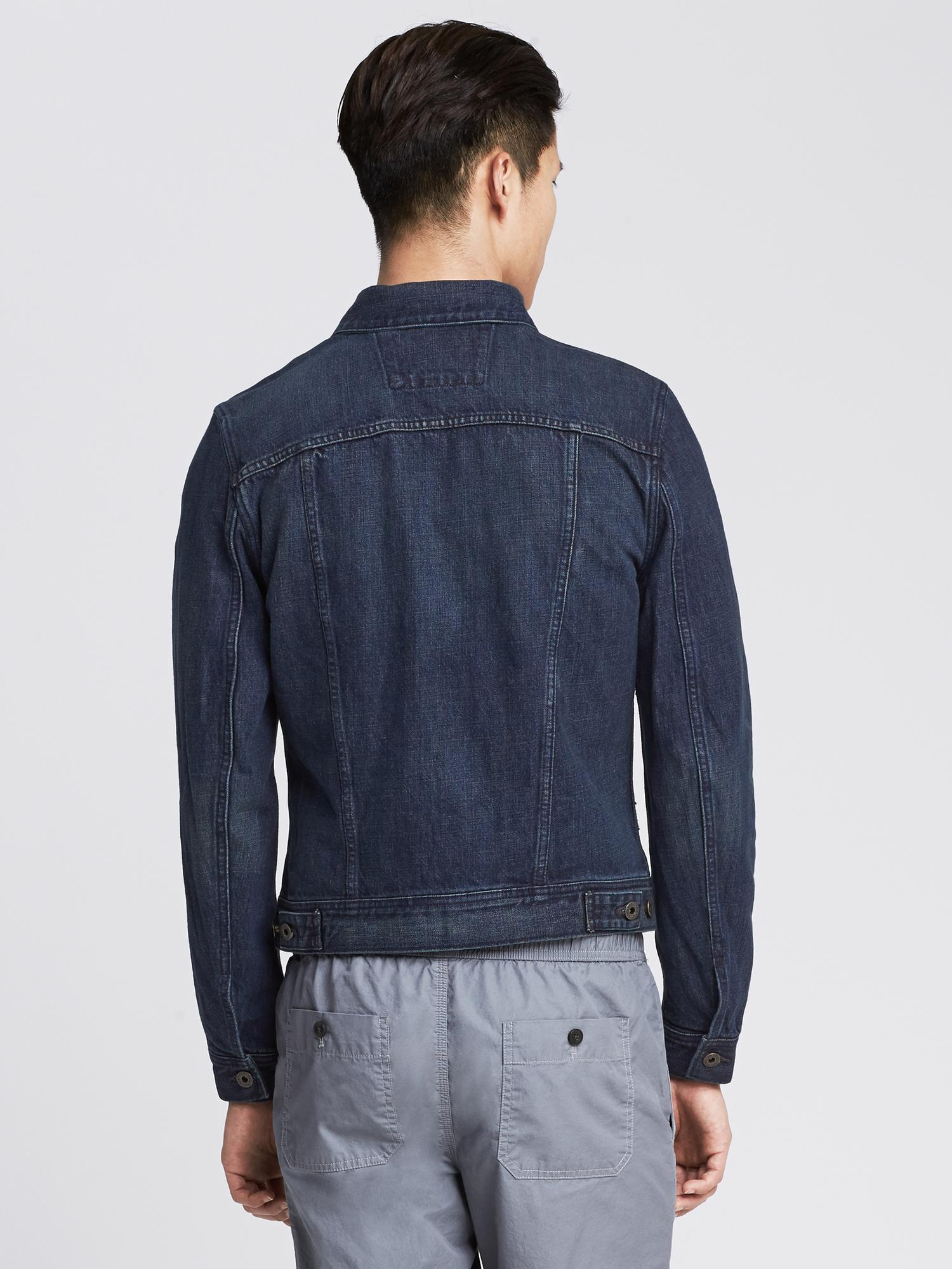 7d3a43daaa0ba Lyst - Banana Republic Indigo Denim Jacket in Blue for Men