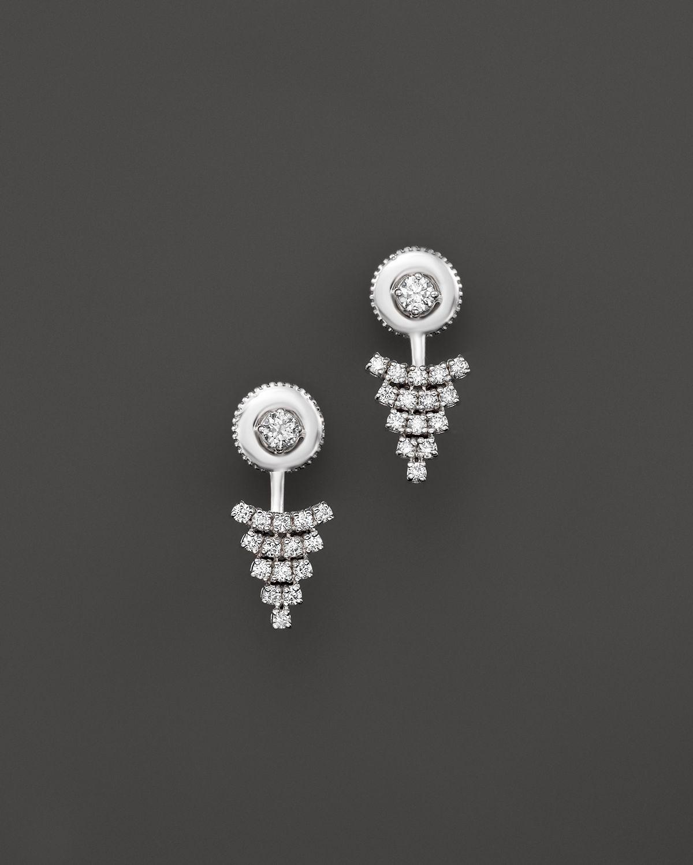 Lyst Kc Designs Diamond Triangle Earring Jackets In 14k