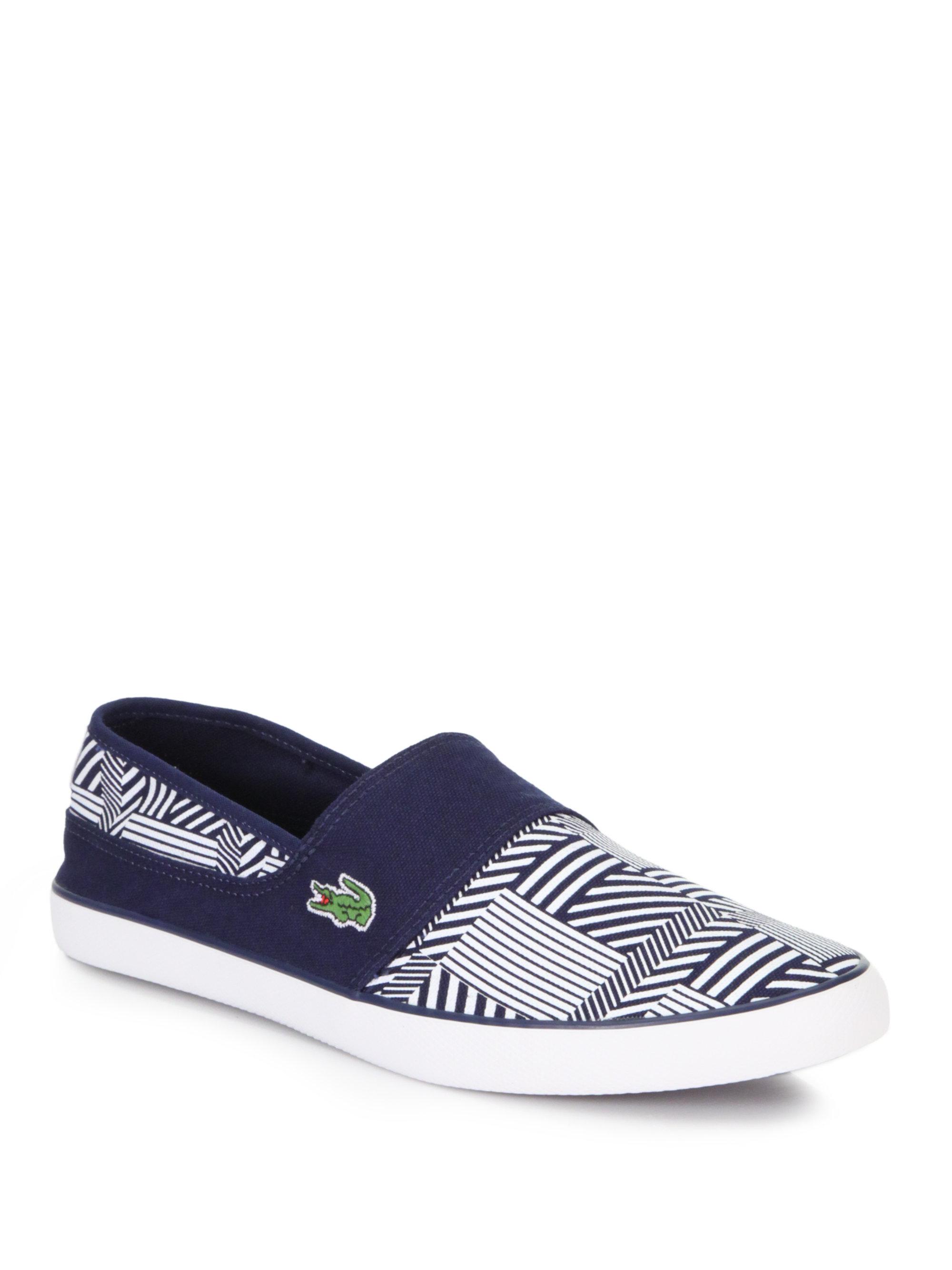 Lacoste Printed Slipon Sneakers in Blue for Men (DARK BLUE ...