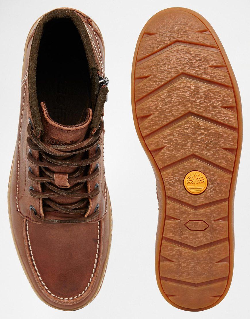 Lyst Timberland Hudston Moc Toe Chukka Boots In Brown