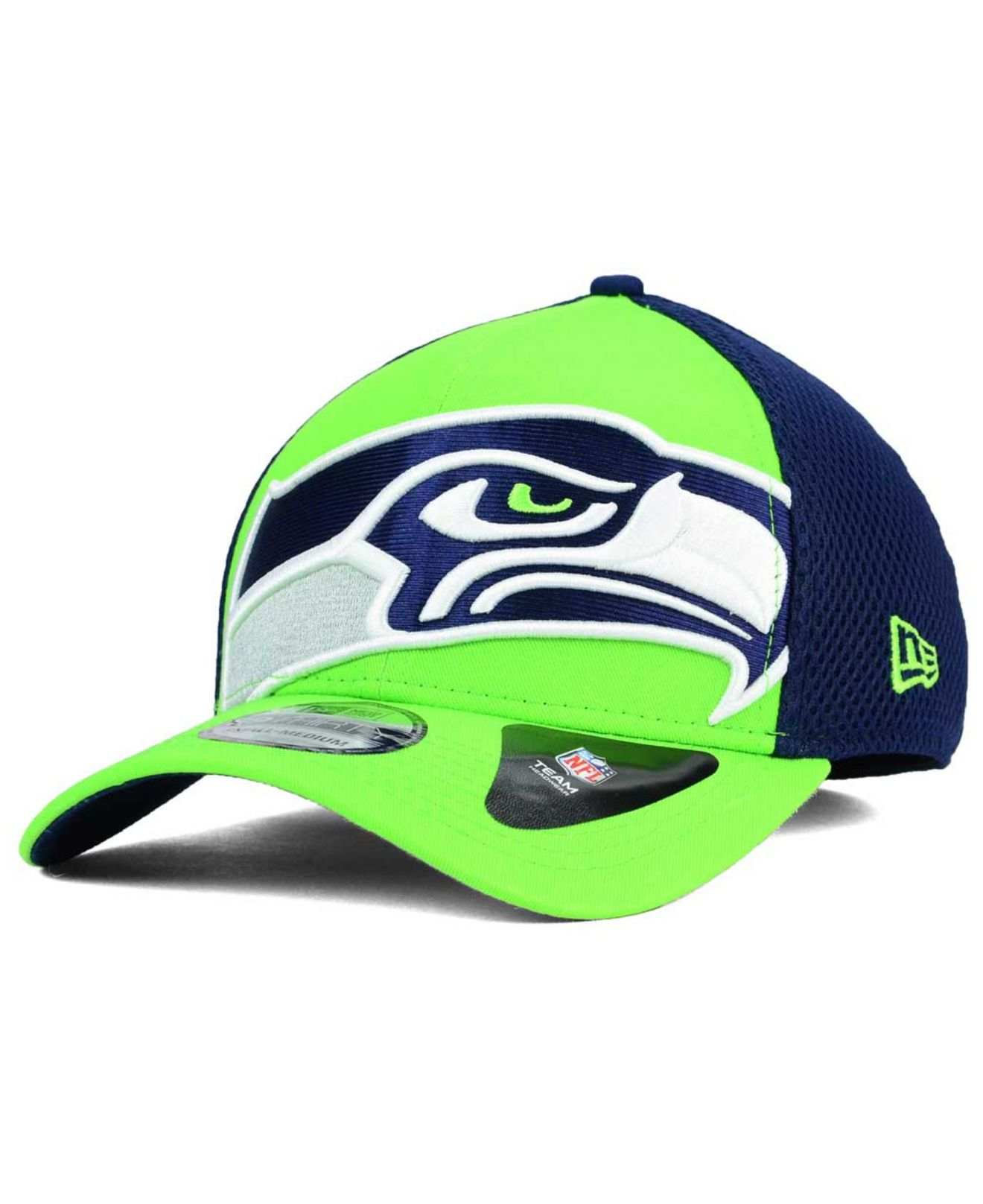 ktz seattle seahawks logo blimp 39thirty cap in green for. Black Bedroom Furniture Sets. Home Design Ideas