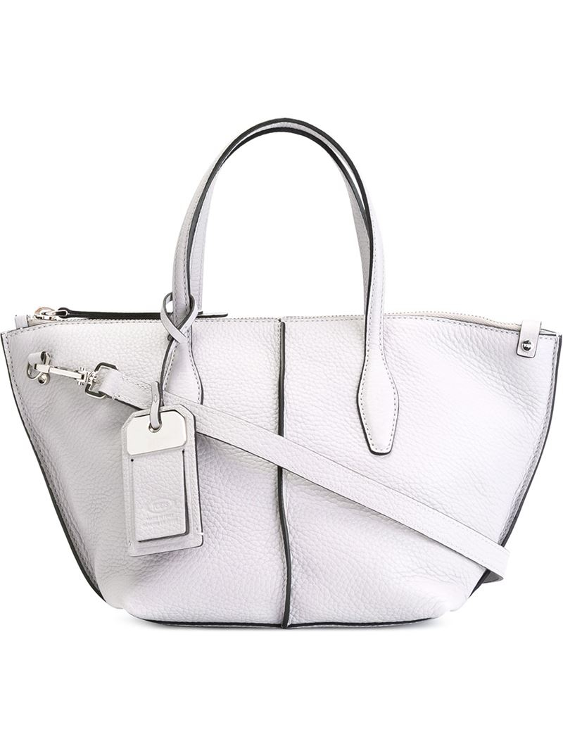af66ed83a5 Tod's Mini 'joy' Tote in Gray - Lyst