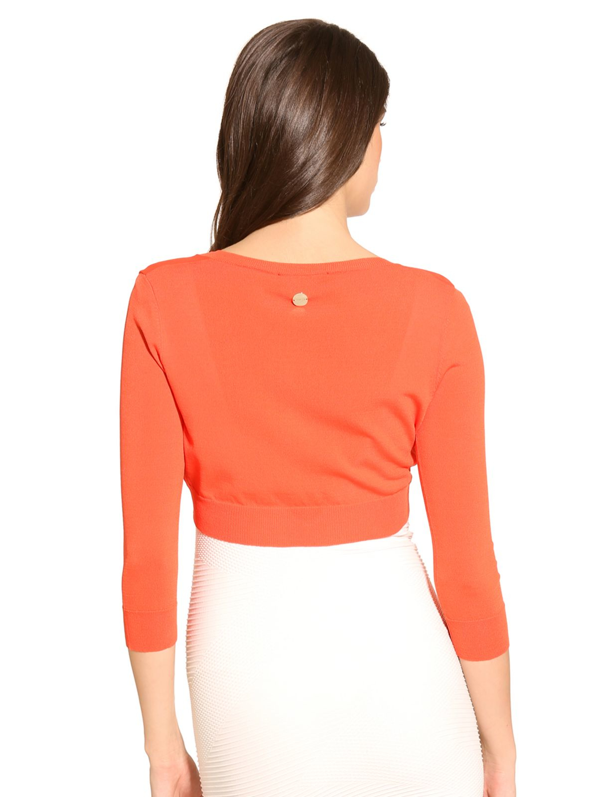 Guess Marciano Short Cardigan in Orange | Lyst