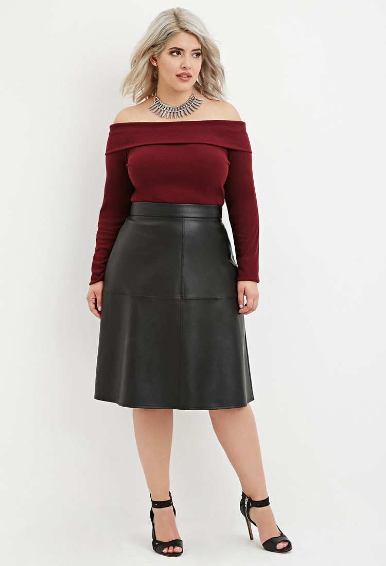 PurpleHanger Women's Wet Look Pencil Wiggle Midi Skirt Plus Size. from $ 1 out of 5 stars 7. Calvin Klein. Women's Plus-Size Essential Power Stretch Pleather Front Skirt. from $ 69 50 Prime. Women's Black Leather Wet Look Party Dress Dancing Costumes Short Mini Skirt $ 5 Sissily.