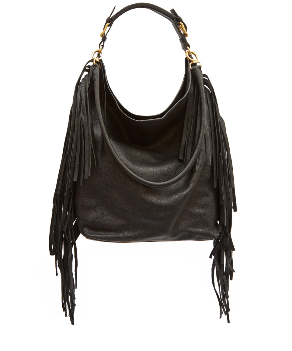 Lyst - Marni Large Black Fringe Leather Hobo Bag in Black 5c5337d57b242