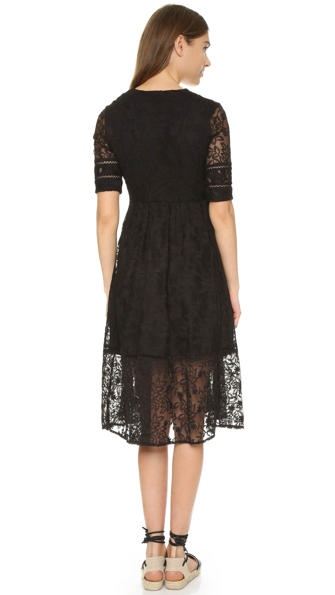 Free People Laurel Lace Dress In Black Lyst