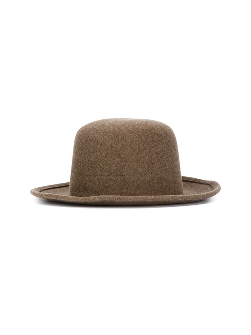 Lyst Scha Wide Brim Bowler Hat In Brown For Men