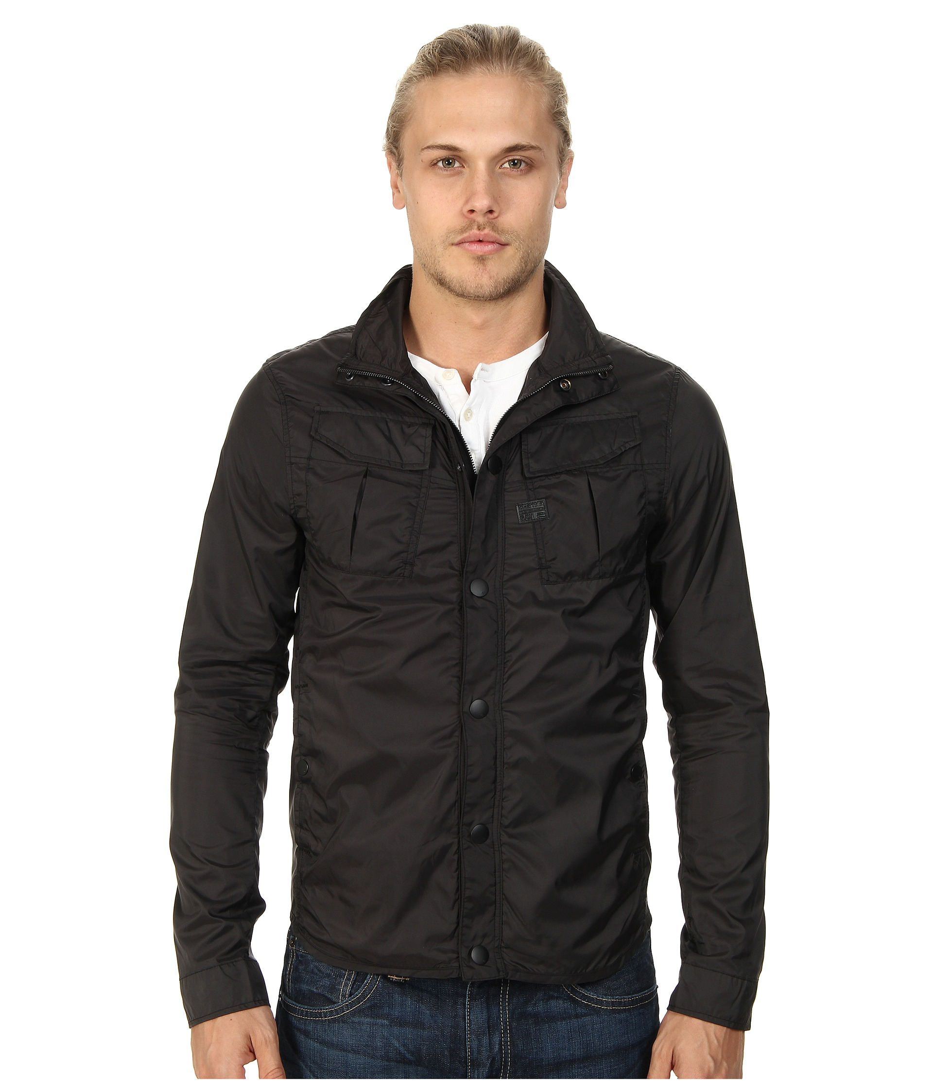 G-star raw Filch Camo Overshirt In Myrow Nylon in Black for Men | Lyst
