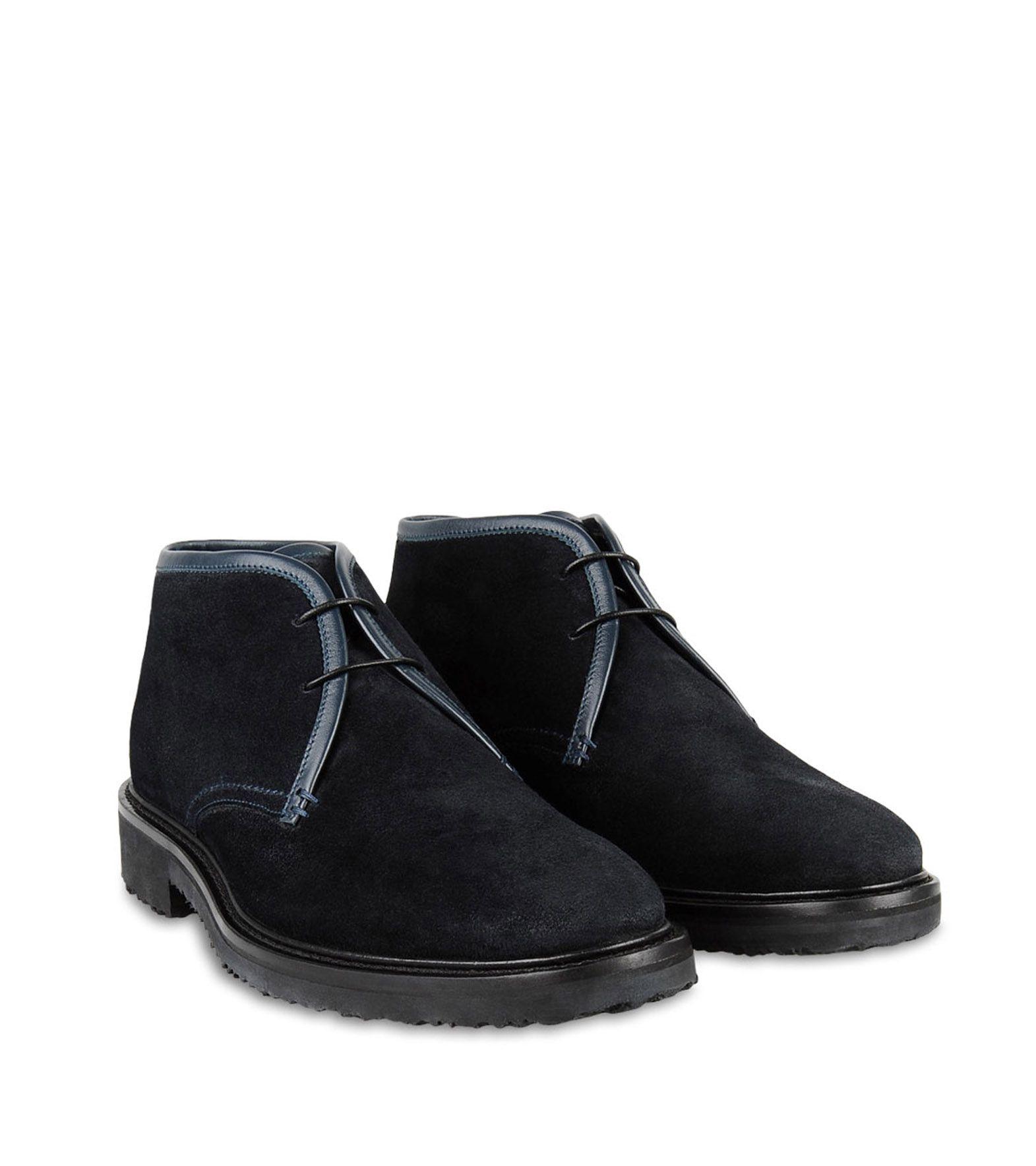 ermenegildo zegna suede chukka boot in blue for lyst