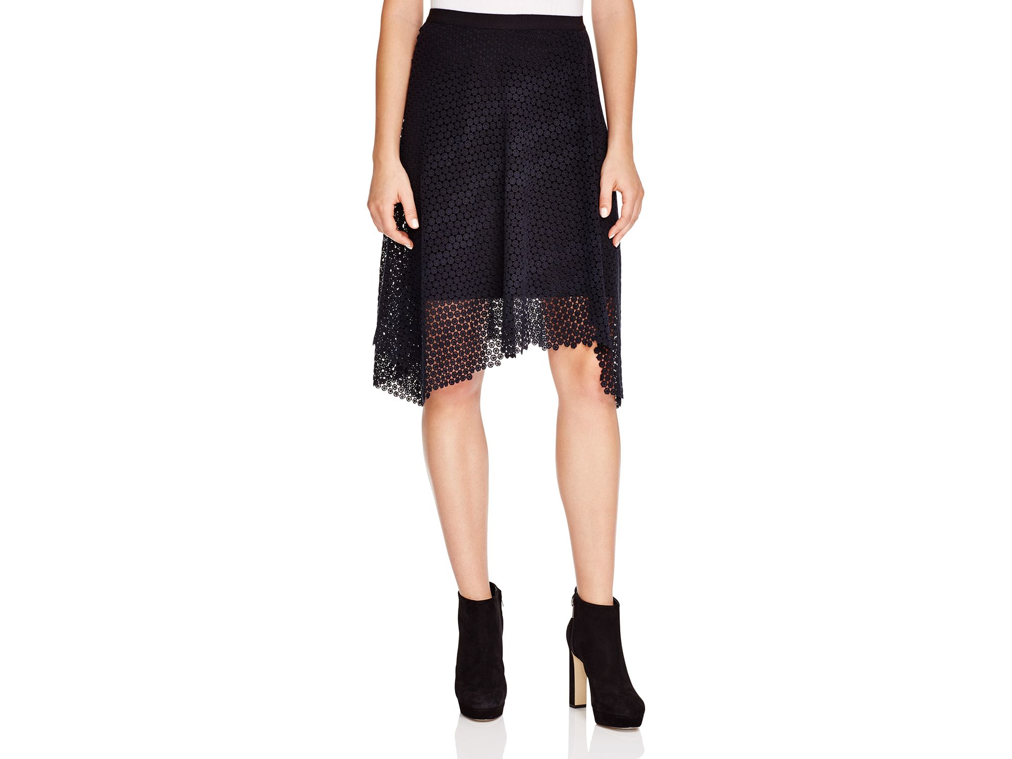 7061bb2ba Lyst - Elie Tahari Rosetta Skirt in Black