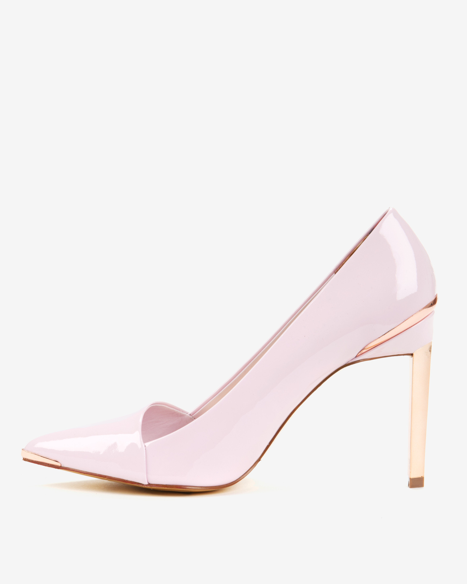 Lyst - Ted Baker Pointed High Top Court Shoes in Pink 414f56bf7