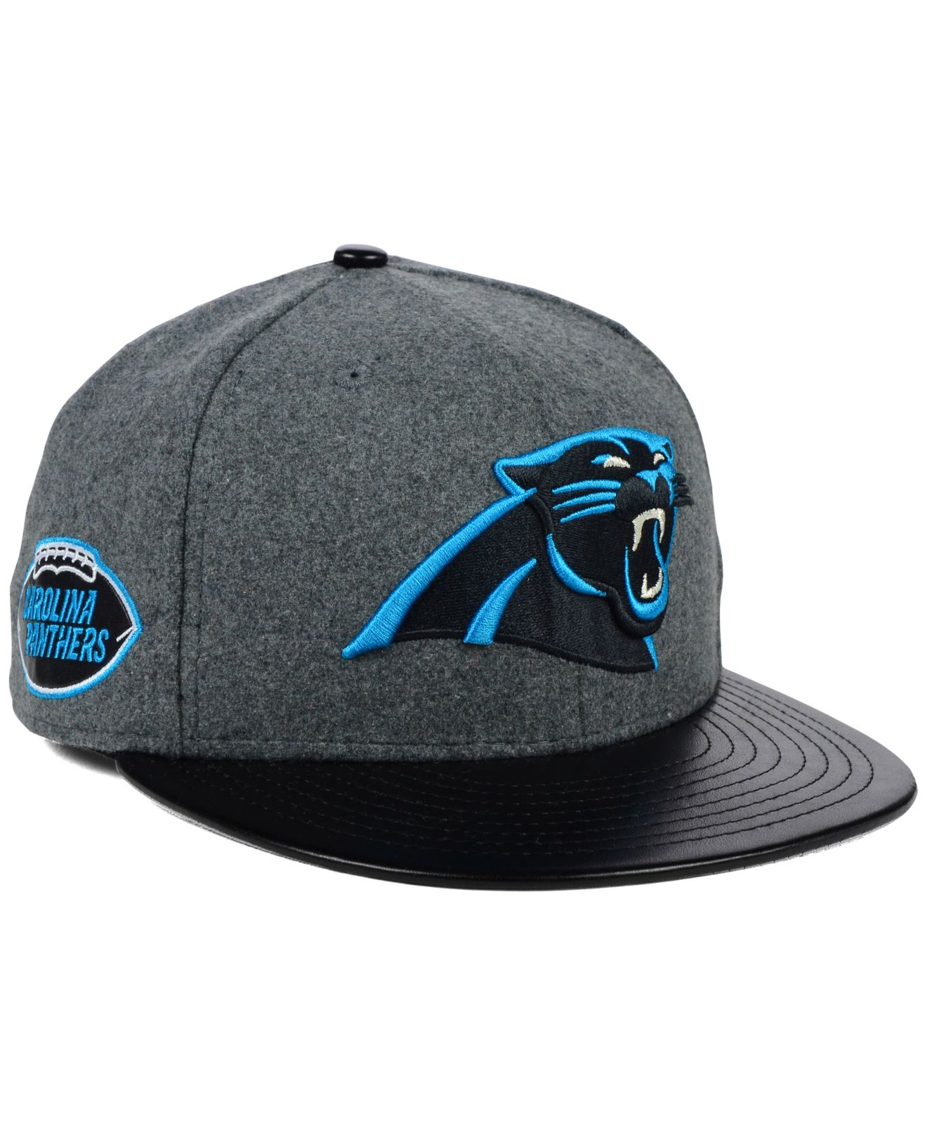 official store leather carolina panthers hat a54a9 28006 c77676be6