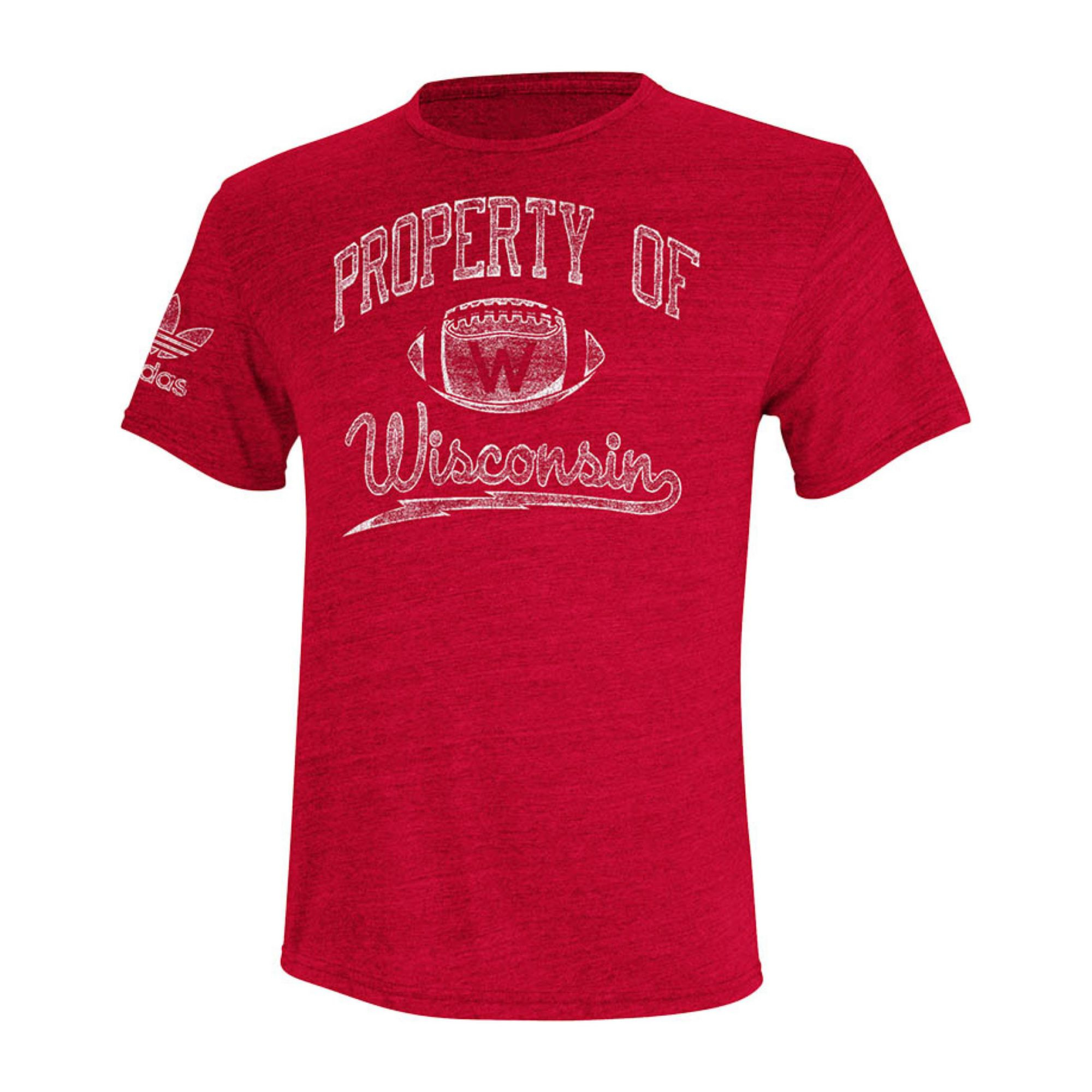 adidas men 39 s wisconsin badgers old timer t shirt in red
