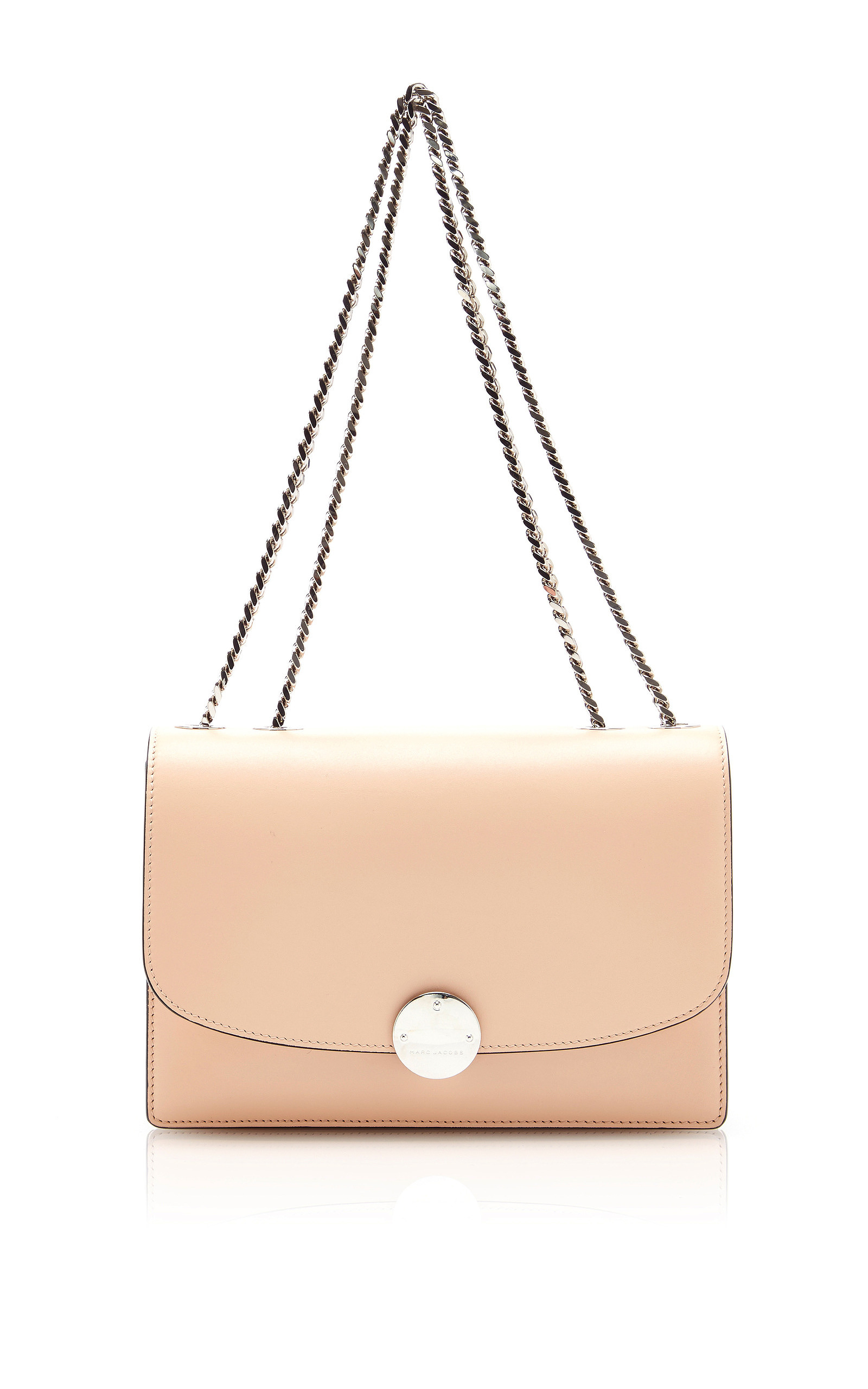 Marc jacobs Trouble Leather Shoulder Bag In Nude in Natural | Lyst